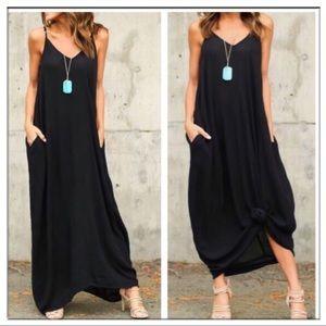 Black Cocoon Maxi Dress